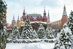 Central Moscow in winter