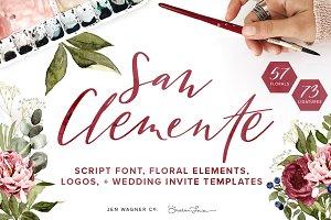San Clemente Script + Spring Florals