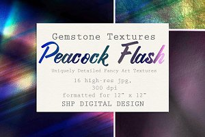 Gemstone Textures:  Peacock Crystal