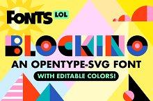 Blockino: Opentype-SVG Color Font