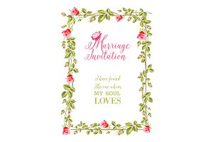 Marriage invitation greeting.