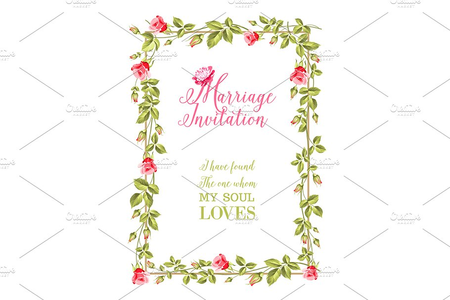 Marriage Invitation Greeting Wedding Templates Creative Market