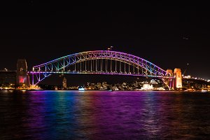 Sydney Harbour Bridge illumination
