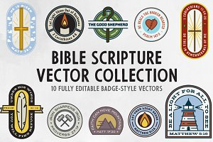 Scripture Badges Vector Collection