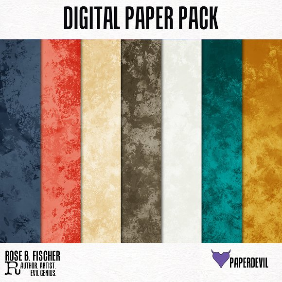 Digital Paper Pack Be Bold Solids 2