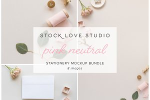 Pink Neutral Invitation Mockup