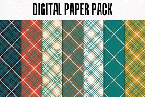 Digital Paper Pack: Be Bold Plaid