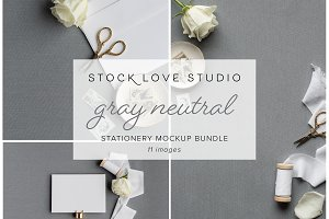Gray Stationery Mockup Bundle