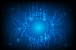 Blue abstract technology circuit.