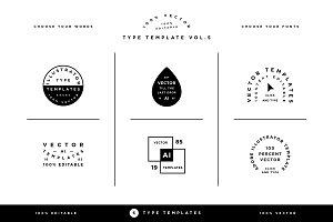 Type Template Vol. 5