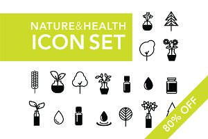 [80% OFF] Nature & Health Icon Set