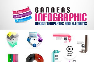Geometrical banners and templates