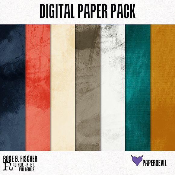 Digital Paper Pack: Be Bold Solids 4
