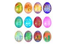 Set of colorful easter egg