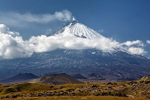 Klyuchevskoy Volcano on Kamchatka