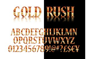 Gold and silver Broadway Alphabet
