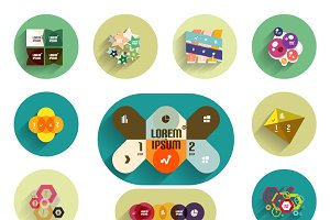 Geometrical infographic designs