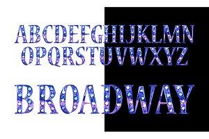 Gold 3D Broadway Alphabet