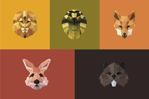 Animals Polygons Logo Design