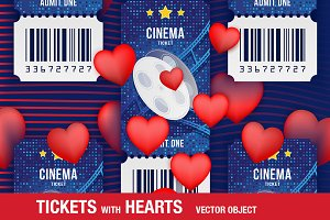 Tickets with Red Hearts