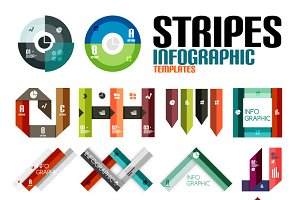Stripes infographic templates