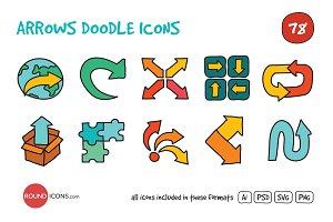 Arrows Doodle Icons Set