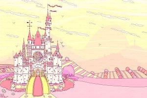 ♥ vector  Castleview illustration 01