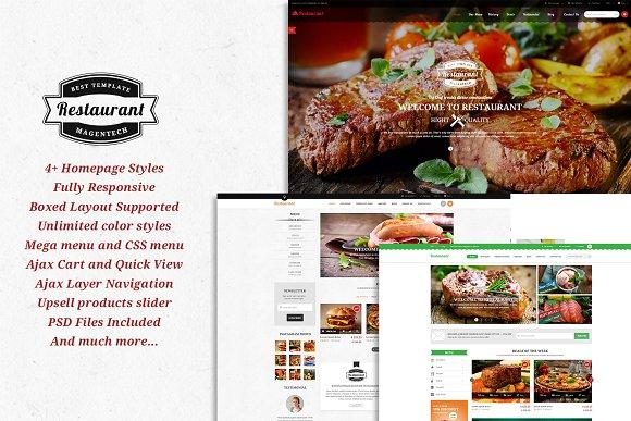 SM Restaurant Magento 1.9 Theme