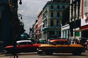 Old retro cars