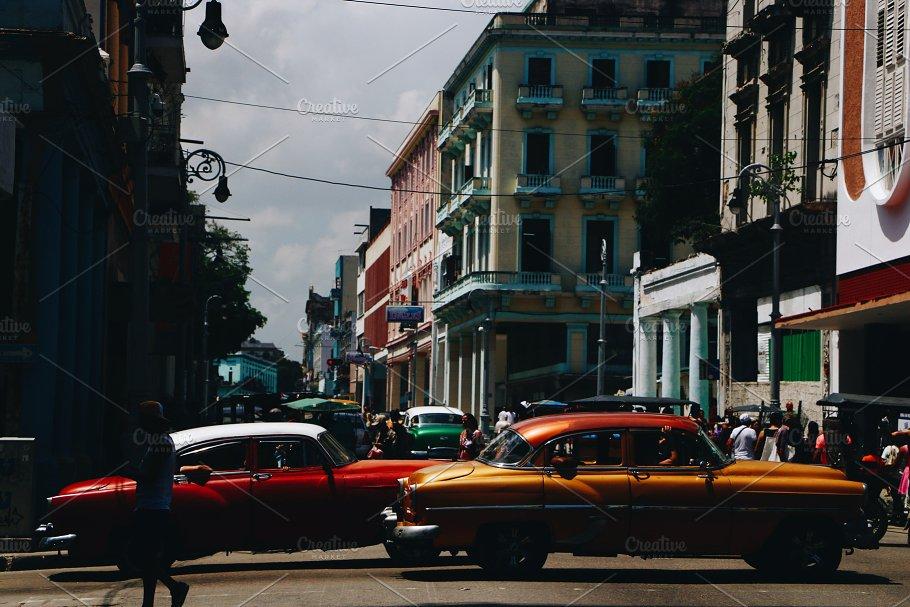Old retro cars ~ Transportation Photos ~ Creative Market