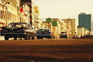Old black retro car
