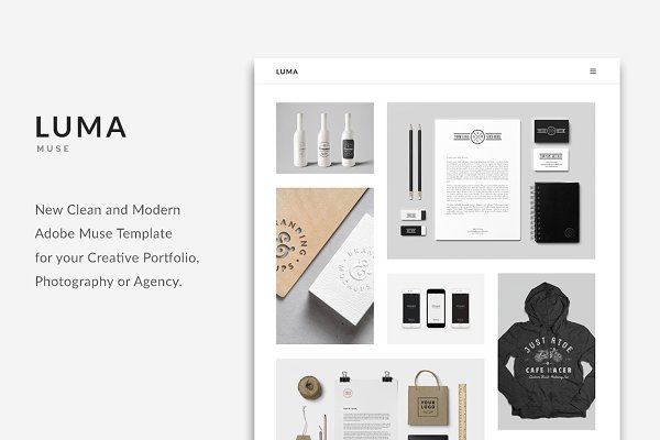 Website Templates: PixaSquare - LUMA - Creative Muse Template