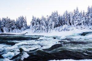 Storforsen, biggest waterfall