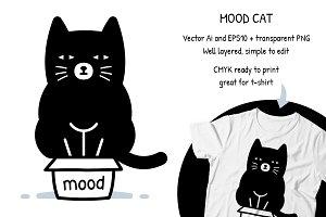 Mood Cat Funny Clipart
