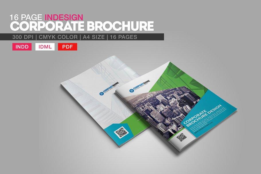 16 Page Indesign Corporate Brochure ~ Brochure Templates ~ Creative