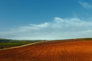 Plowed Field Countryside Landscape