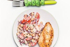 Healthy dieting meal