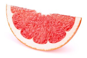 Grapefruit fruit slice isolated