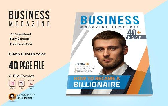 Business magazine template magazine templates creative market business magazine template friedricerecipe Images