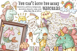 Magical unicorns set