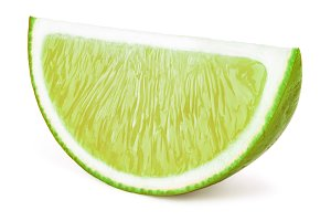 Lime fruit slice isolated