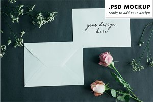 Styled stock photo invitation mockup