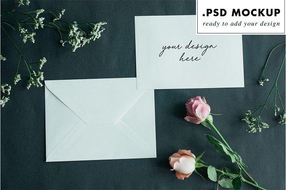 Styled stock photo invitation mockup
