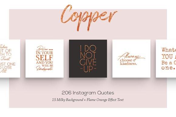 Copper 206 Instagram Quotes