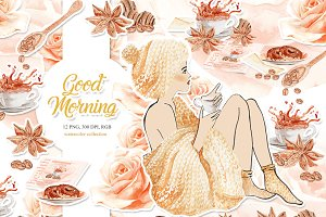 Coffee Clipart,Desserts,Chocolate