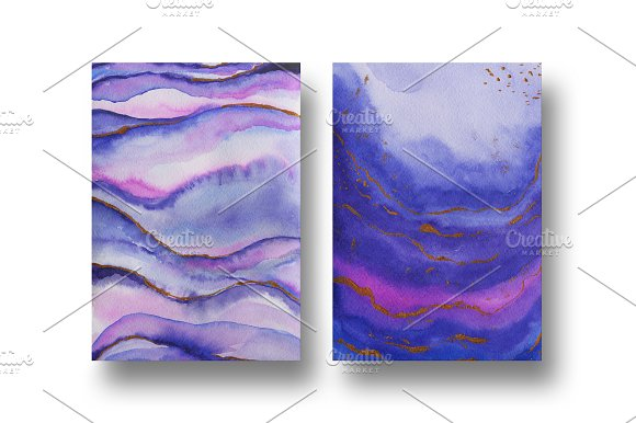 Agate watercolor texture backgrounds in Textures - product preview 4