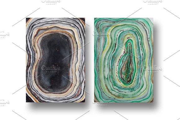Agate watercolor texture backgrounds in Textures - product preview 5