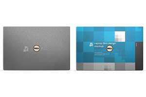 Dell XPS 13 Laptop Skin Mockup