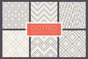 Dotted Seamless Patterns. Set 2