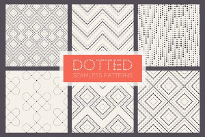 Dotted Seamless Patterns. Set 2